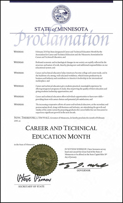 Career and Technical Education Month Proclamation